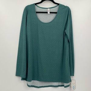 LuLaRoe Lynnae Long Sleeve Top Size XL